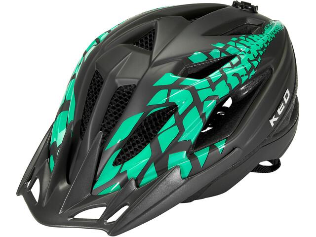 KED Street Jr. Pro Helmet Kids black green matt